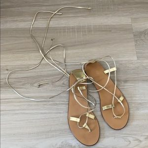 JCREW sandal made in Italy - nude and yellow gold